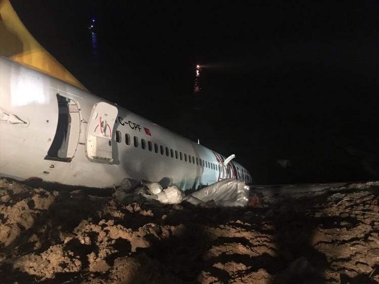 """<p>Trabzon Havalimanı'na iniş yapan Ankara uçağı pistten çıktı. Pegasus'a ait uçaktaki 164 yolcu tahliye edildi.<em><strong><a href=""""http://video.haber7.com/video-galeri/111275-pistten-cikan-ucak-havadan-goruntulendi"""" target=""""_blank""""><span style=""""color:rgb(255, 255, 0)"""">HABERİN VİDEOSU İÇİN TIKLAYIN</span></a></strong></em></p>"""