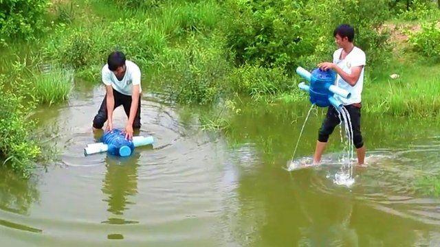 Balık tutmanın böylesi!