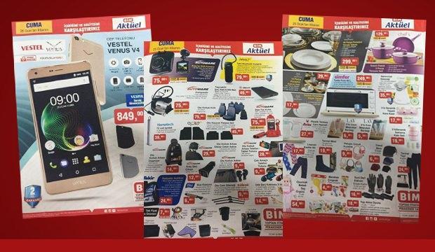 <p>BİM marketlerinde 25 Ocak cuma günü itibariyle raflarda yerini alacak olan indirimli aktüel ürün kataloğu yayınlandı.</p>