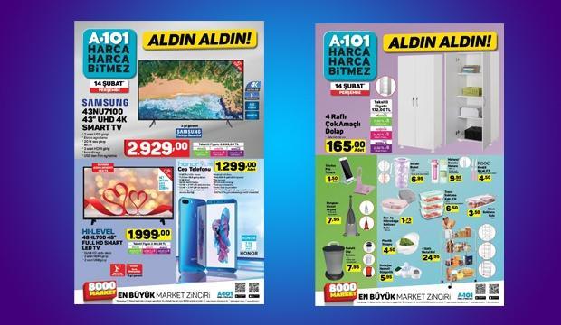 <p>A101 marketlerde 14 Şubat itibariyle satışa sunulacak aktüel ürünlerin listesi belli oldu. İşte Şubat ayının ikinci haftasında dikkat çeken ürünler...</p>