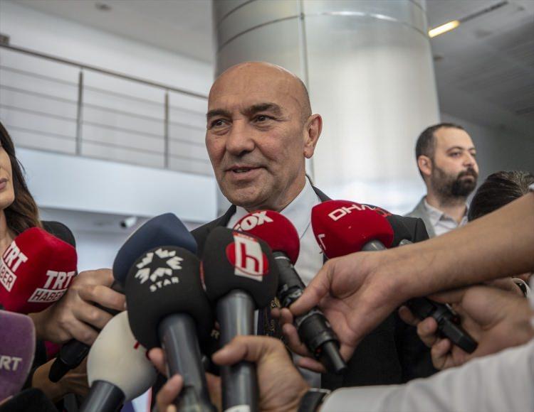 <p>İzmir Büyükşehir Belediye Başkanı Tunç Soyer, açıklamalarda bulundu.</p>
