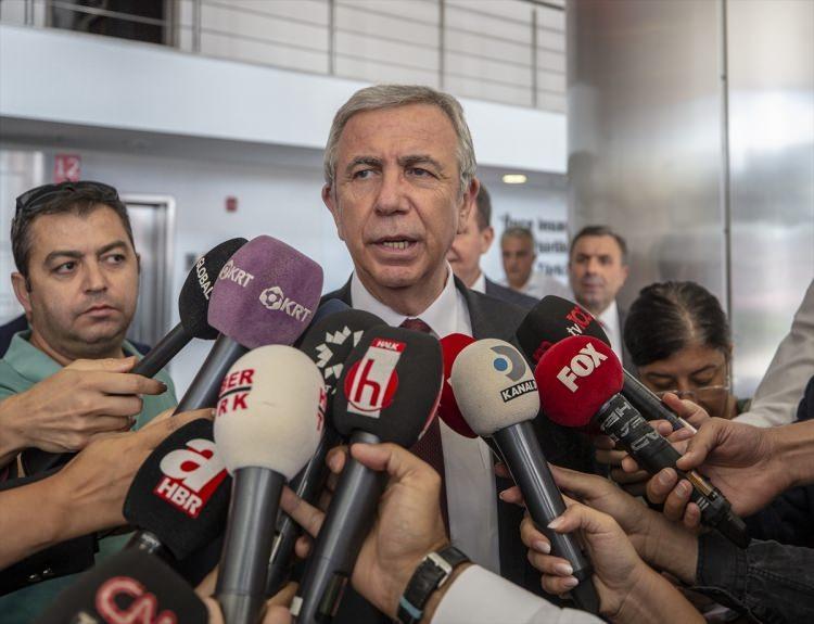 <p>Ankara Büyükşehir Belediye Başkanı Mansur Yavaş, açıklamalarda bulundu.</p>