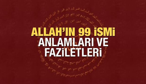 <p>Anlamsal bakımdan ''En güzel isimler'' biçiminde ifade edilen Esmaül Hüsna'da, hem yerin hem de göğün sahibi ulu Allah'ın 99 ismi yer almaktadır. Gerek Kur'an-ı Kerim vasıtasıyla gerekse Hadis-i şerifler üzerinden ehemmiyetine her fırsatta vurgu yapılan Diyanet Allah'ın 99 ismi Arapça Türkçe okunuşunu sizin için hazırladık.</p>