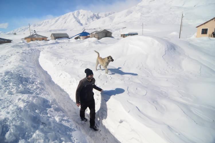 """<p>Paşadüzü köyünde yaşayan besici Mehmet Kılınç, AA muhabirine yaptığı açıklamada, kış mevsiminin hayatı zorlaştırdığını söyledi.Çetin kış koşulları nedeniyle hayvanlarıyla ilgilenmekte zorlandığını anlatan Kılınç,<em>""""Köyümüz Munzur Dağları'nın eteğinde yer alıyor. Burası diğer köylere göre biraz daha yüksekte bulunuyor. Bu yıl kar yine çok yağdı."""" dedi.Kılınç, tipi nedeniyle ev ve ahır yollarının kapandığını belirterek, """"Yolları küreklerle açıyoruz. Hayvanlarımızı soğuk havalarda dışarıya çıkaramadığımız zamanlar oluyor. Bu yüzden de karlı patikalardan hayvanlara çeşmeden su taşıyoruz. Kar kalınlığı son yağışlarla yer yer yaklaşık 2 metreye ulaştı.""""</em>diye konuştu.</p>"""