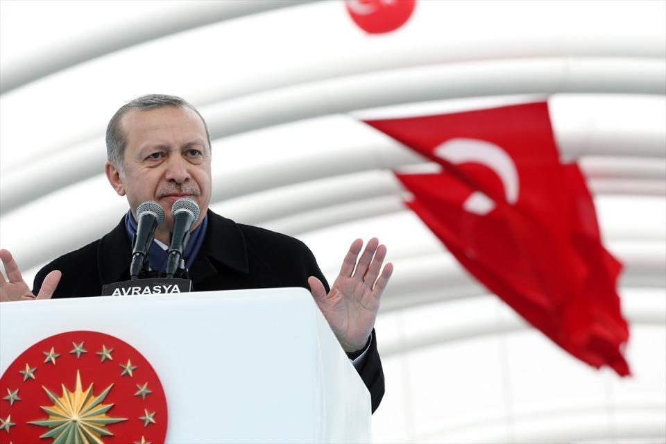 Cumhurbaşkanı Erdoğan Avrasya Tüneli'nin açılışında