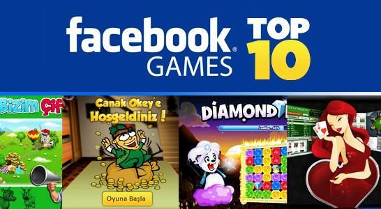 Facebook'ta en çok oynanan 10 oyun!