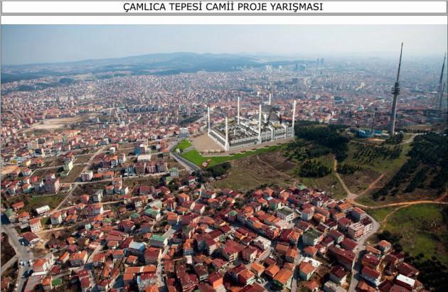 Çamlıca'daki cami İstanbul'dan böyle görülecek