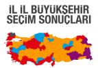 İl il 2019 Büyükşehir seçim sonuçları
