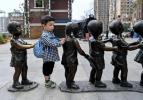 İnsanların 'heykel' komiklikleri