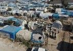 İdlib'de vurulan çadır kampı havadan görüntülendi