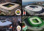 Türkiye'de stadyum maliyet ve kapasiteleri