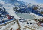 Erzincan'da donan gölden kartpostallık görüntüler