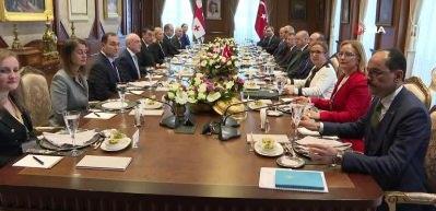 Başkan Erdoğan Giorgi Gakharia ile bir araya geldi