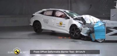 2018 Honda Civic çarpışma ve fren testi!