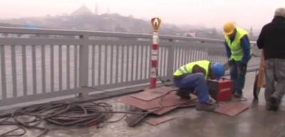 Unkapanı Köprüsü'nün makasları bakıma alındı
