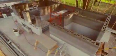 3D yazıcıyla 1 günde yapılan 55 metrekare ev