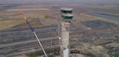3'üncü Havalimanı inşaatı havadan görüntülendi