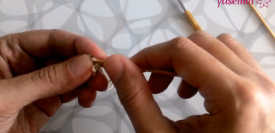 5 şişle dantele başlama tekniği