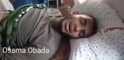 Yaralı Filistinli gözyaşlarına boğdu