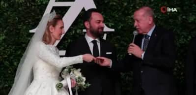 Cumhurbaşkanı Erdoğan o çiftin nikahına katıldı