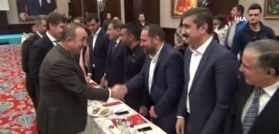 Bakan Çavuşoğlu Mardin'de STK temsilcileri ile buluştu