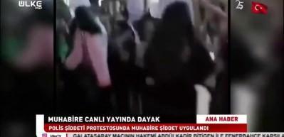 Muhabire canlı yayında yumruklu saldırı!