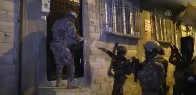 Gaziantep'te dev uyuşturucu operasyonu böyle görüntülendi