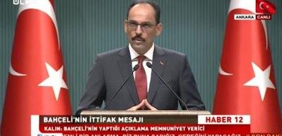 Cumhurbaşkanlığı Sözcüsü Kalın'dan uçak açıklaması