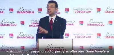 İmamoğlu'nun seçimden önceki 'suya indirim' açıklaması
