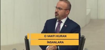 Bülent Turan: İstediğin vakfa tahsis olunca alkışla, istemediğine olunca yuhala
