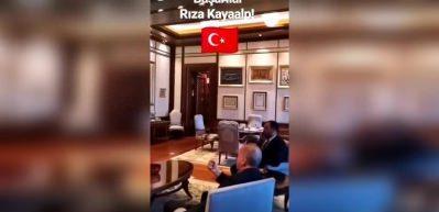 Erdoğan, Rıza Kayaalp'in şampiyonluk maçını böyle izledi