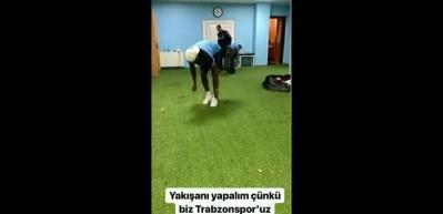 Trabzonsporlu oyunculardan alkış alan hareket