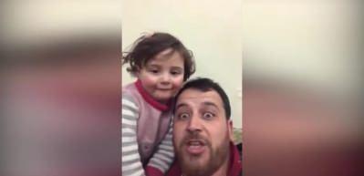 En acı oyun! Suriyeli baba kızı için...