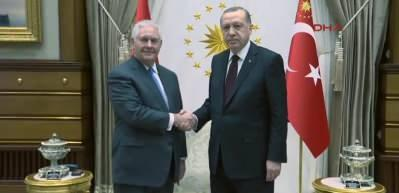ABD Dışişleri Bakanı Rex Tillerson, Beştepe'de