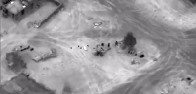 ABD hava saldırısının görüntüleri yayınlandı! Ortalık karışacak