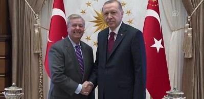 Erdoğan ile ABD'li Senatörün görüşmesi sona erdi