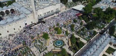 Abdülmetin Balkanlıoğlu'nun cenazesi havadan görüntülendi