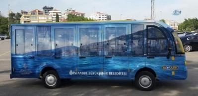 Adalar'da elektrikli minibüsler yolcu taşıyacak