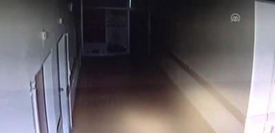 Adıyaman'daki deprem anı güvenlik kamerasında