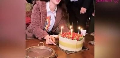 Afili Aşk'ın Ayşe'si Burcu Özberk'e sette doğum günü!
