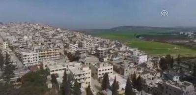 Afrin ilçe merkezi havadan görüntülendi