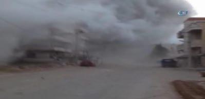 Afrin'deki patlamanın sıcak görüntüleri yayınlandı!