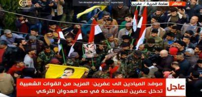 Afrin'den sıcak görüntü! Böyle karşıladılar