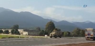 Afrin'e sinyal kesici jammer taşıyan askeri araçlar gönderildi