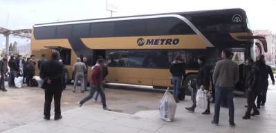 Afyonkarahisar otogarında otobüs seferleri durduruldu
