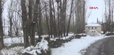 Ahlat'a kar yağdı