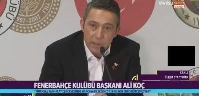 Ali Koç: Gerekirse önümüzdeki sezon Avrupa'ya gitmeyiz