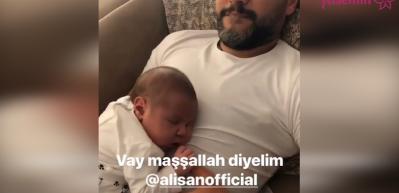 Alişan'dan babalık videosu