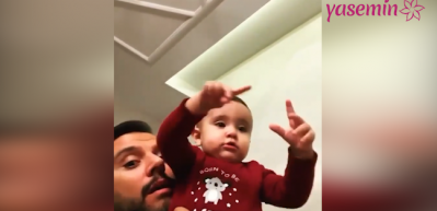 Alişan'ın oğlu Burak ezanı duyunca ki hareketleriyle mest etti!
