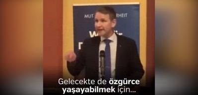 Alman ırkçı siyasetçinin Türkiye ve Erdoğan nefreti her şeyi açıklıyor